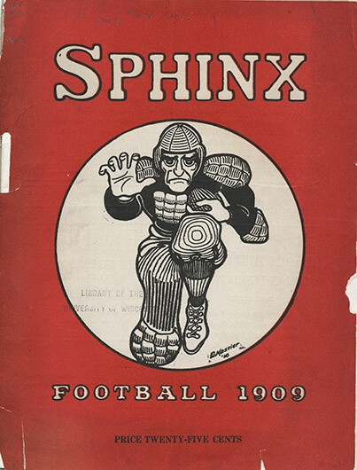 Cover of the Sphinx from 1909 featuring a football player.